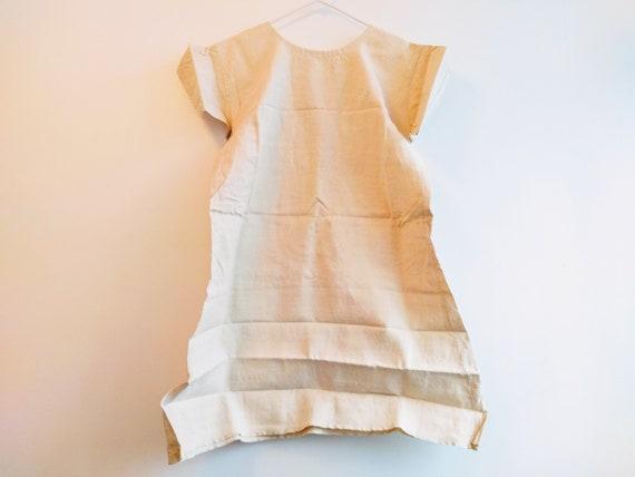 Antique French Linen Hemp Night Shirt Smock Biaud… - image 2