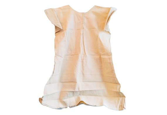 Antique French Button Front Linen Hemp Night Shirt