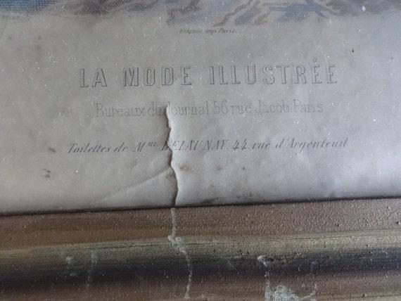 Vintage la mode illustree bureaux du journal rue jacob paris