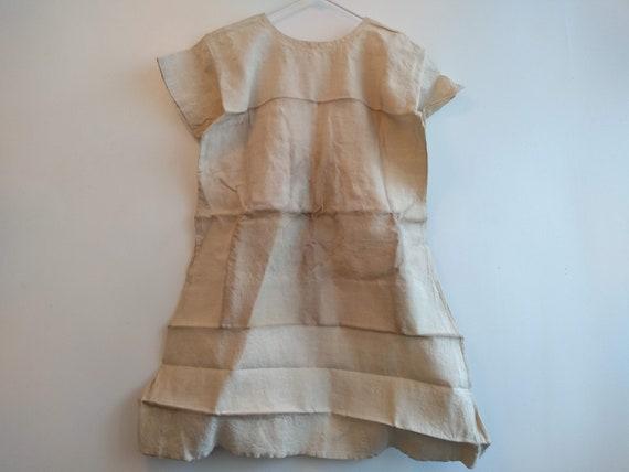 Antique French Linen Hemp Night Shirt Smock Biaud… - image 8