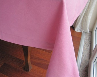 custom tablecloth/Solid red gray green pink 120 Table cloth square- rectangle oval- duck linen kitchen dining entertaining shabby chic decor