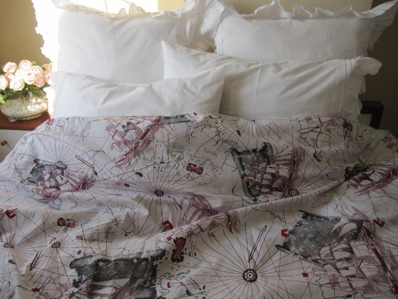 World map print duvet cover twin xl full queen oversized super gumiabroncs Image collections