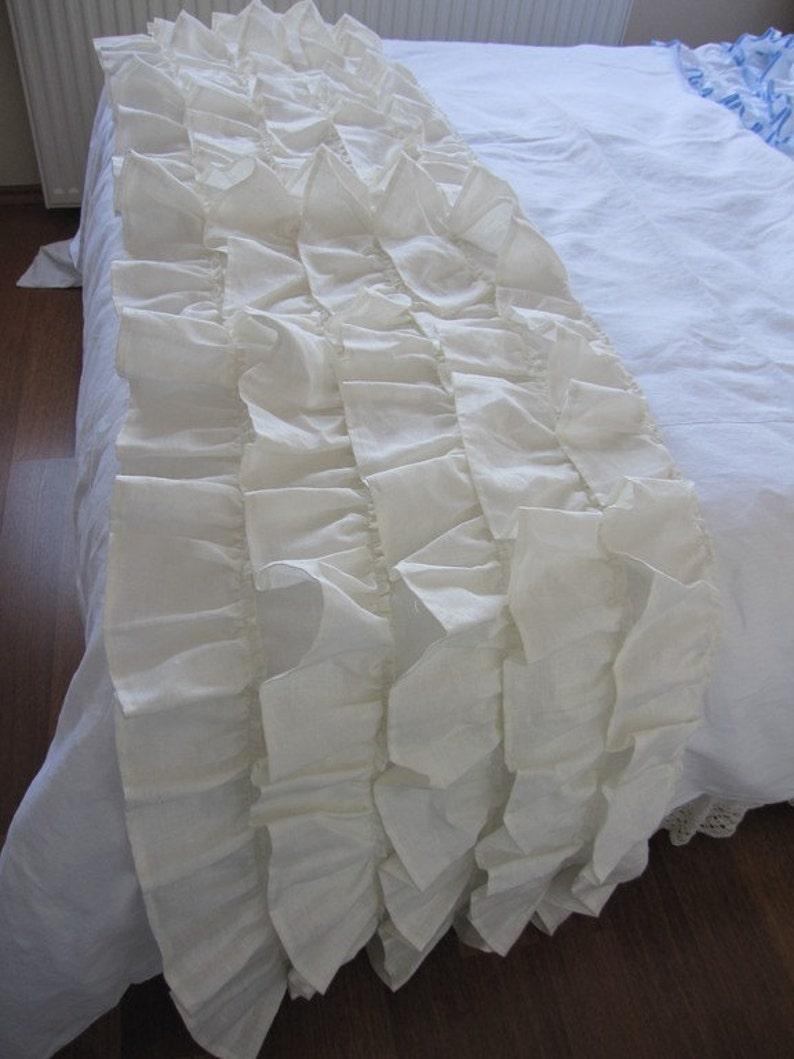 Bett Schal Läufer Tier Rüsche Bettwäsche Werfen Königin Etsy