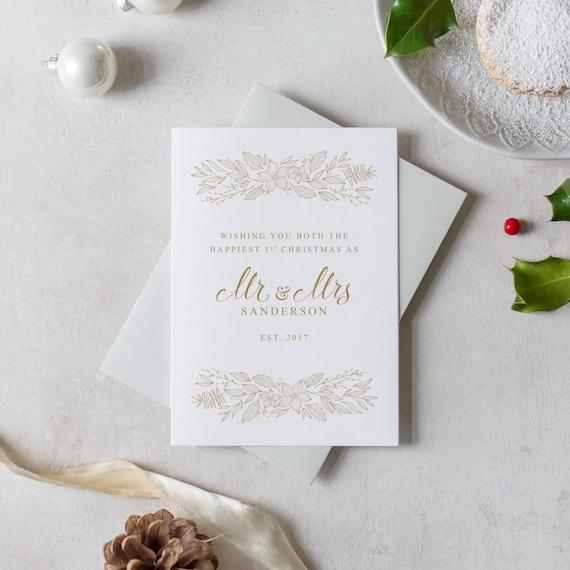 Personalised mr mrs christmas card sentimental christmas m4hsunfo