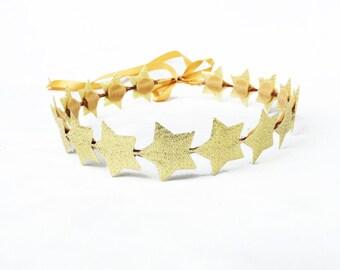 Gold Star Headband, Gold Star Crown, Gold Crown, 4th of July Crown, Star Crown, Star Headband, Star Headpiece, Birthday Crown, Silver, Gold