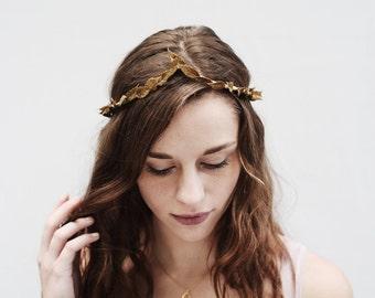 Gold Leaf Headband, Gold Leaf Crown, Gold Crown, Gold Headband, Wedding Crown, Bridal Headpiece, Greek Headpiece, Gold Leaf Headpiece, Toga