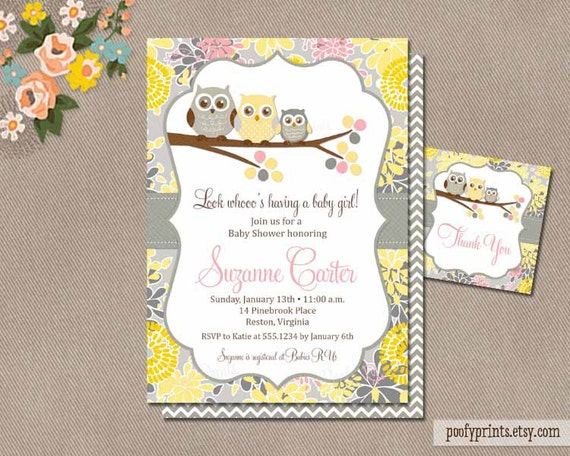 Baby girl owl shower invitation printable owl baby shower etsy image 0 filmwisefo
