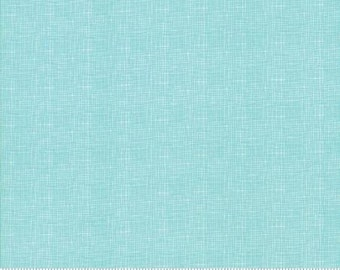 """End of Bolt 35"""" of Lulu Lane Turquoise Woven Print 29027 19 by Corey Yoder of Little Miss Shabby for Moda"""
