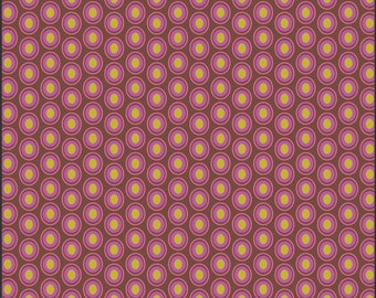 1 Yard Chocolate Cherry Oval Elements Collection by Art Gallery