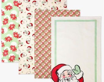 Swell Christmas Towels Set of 4 961 164 designed by Urban Chiks for Moda