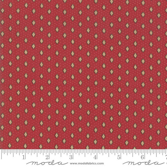 Moda Fabric Chafarcani by French General13855-12 Red Cream