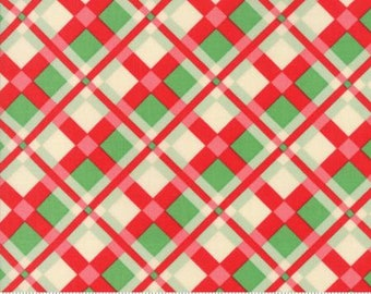 Swell Christmas Red Green Plaid 31122 11 by Urban Chiks for Moda