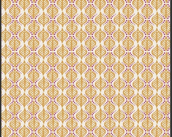 SALE 1 Yard Rhapsodia Terra Stamps Gold by Pat Bravo for Art Gallery Fabrics