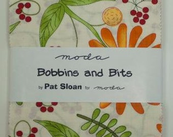 SALE Bobbins and Bits Charm Pack designed by Pat Sloan for Moda