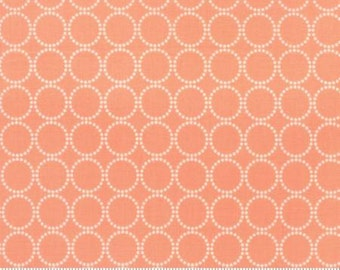 Sundrops Circles Coral Peach 29014 26 Corey Yoder of Little Miss Shabby for Moda