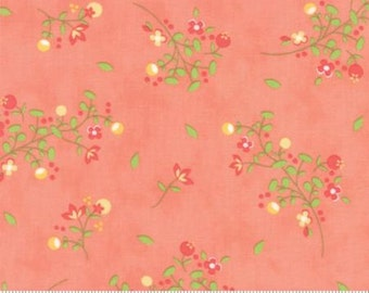 Sundrops Blossoms Coral Peach 29011 16 Corey Yoder of Little Miss Shabby for Moda