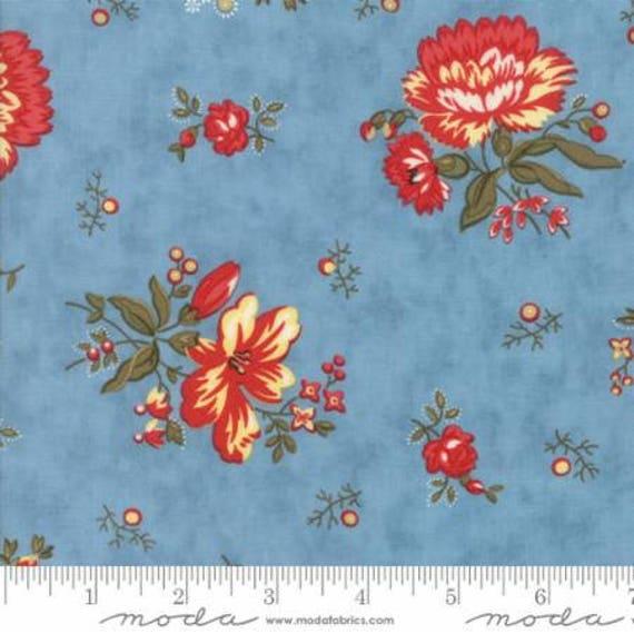 Ann's Arbor Blue Floral Chinz 14841 15 By Minick & Simpson
