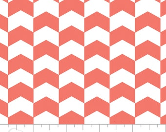 Kate Chevron in Grapefruit by Camelot Design Studio