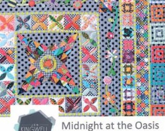 Midnight At The Oasis Quilt Pattern by Jen Kingwell