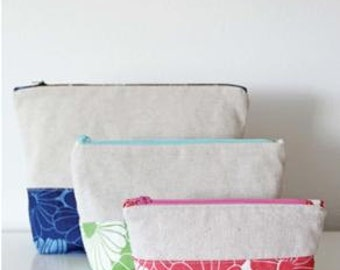 SALE Color Block Pouches Pattern designed by Vanessa of V & Company