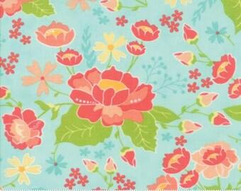 Lulu Lane Aqua Garden Floral 29020 19 by Corey Yoder of Little Miss Shabby for Moda