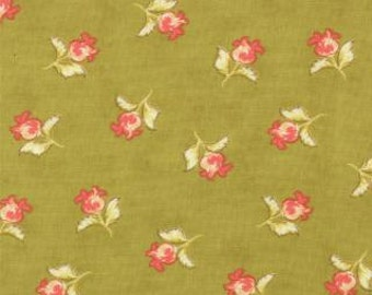 "End of Bolt 1 yard 16"" of Honeysweet Poppy Blooms Pear  by Fig Tree Quilts for Moda"