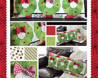 Deck the Halls Bench Pillow Pattern designed by KimberBell