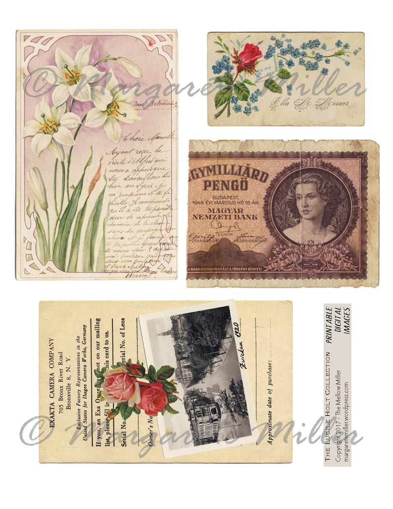 The Lucile Holt Collection  Printable Digital Images image 0