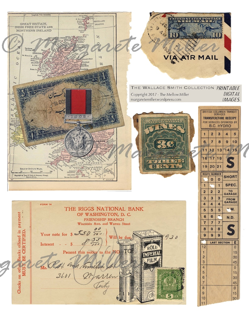 The Wallace Smith Collection  Digital Printable Downloads image 0