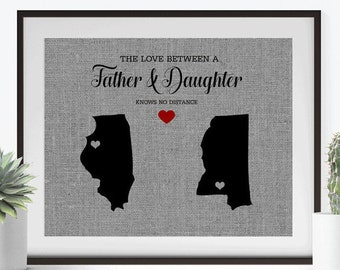 The Love Between A Father Daughter O Personalized Gift For Dad From Birthday Fathers Day Son
