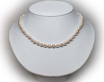 7 mm Freshwater White Pearl Necklace