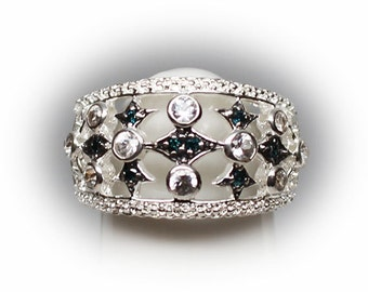 Sterling Silver Foral Fashion Ring