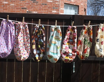 Laundry Room Fabric Grocery Bag Holder