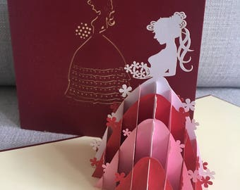 Items Similar To Pop Up Birthday Card From Me To You Red Color On