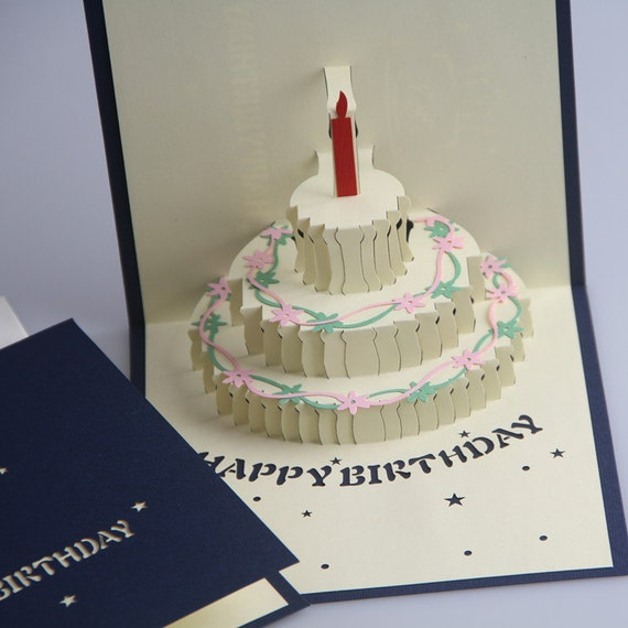 3d Pop Up Birthday Card Birthday Card Pop Up Card Etsy