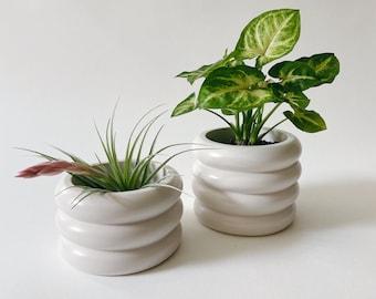 Lola Planter - Cream    Plant Pot   Bubble Planter (Plants not included)
