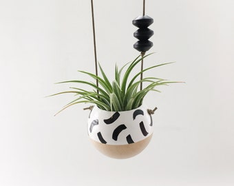Mini Hanging Hand-Painted Planter    Air Plant Pot    Succulent Planter   Plant Gift   Air Plant Holder