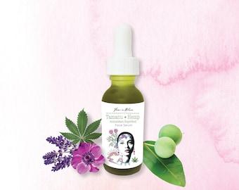 Tamanu + Hemp Antioxidant Superfood Face Serum | Organic Skin Vitamin Superfood | Moisturize, Hydrate, Nourish, Radiant Healthy Complexion