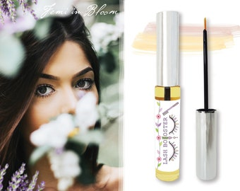 Organic Lash and Brow Growth Booster Serum | Liner Brush Style | Plant Based Vitamin Nutrients | Lengthen, Repair, Strengthen, Fuller Lashes