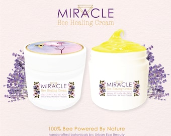 Miracle Bee Healing Rescue Cream | Problem Skin Fix | Organic Manuka Honey, Bee Venom, Copaiba, Vitamin Treatment | Relief Psoriasis, Eczema