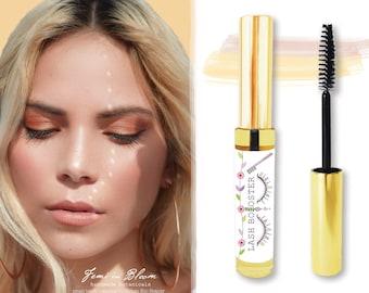Organic Lash & Brow Growth Booster Serum | Mascara Brush Style | Plant Based Vitamin Nutrients | Lengthen, Repair, Strengthen, Fuller Lashes