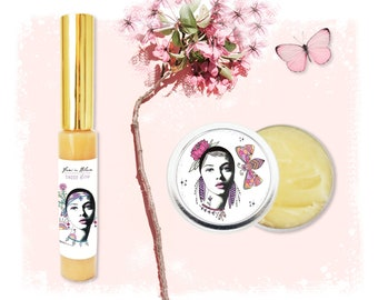 Organic Healthy Juicy Lip Pout Boosting Kit | Clear Lip Gloss and Healing Lip Balm Butter Whip | Manuka Honey, Bee Venom, Moisturize Hydrate
