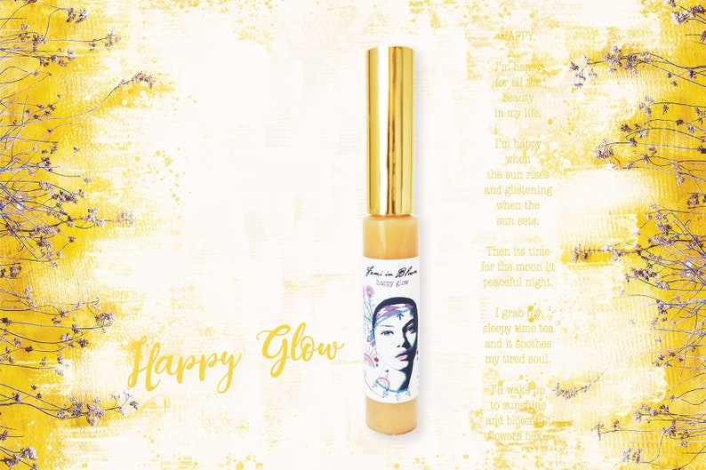HAPPY GLOW  Clear Organic Lip Gloss Boost / Natural Lip image 0