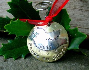 Christmas tree ornamant-peace on earth dove