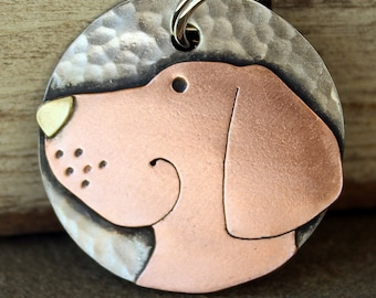Dog Tag - Dog ID Tag - Pet Tag - Dog Tags Custom-Lab- breed tag or key chain