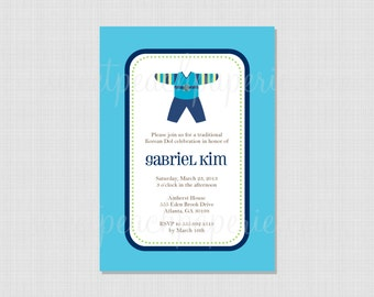 Korean Dol Hanbok Collection : Printable Invitation File