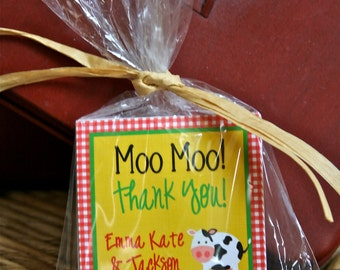 Fresh on the Farm Barnyard Party Collection:  Custom Printable Favor Tag