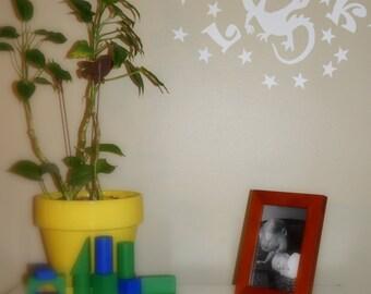 Glow in the dark dragon wall decal personalized wall art room decor vinyl sticker baby shower birthday