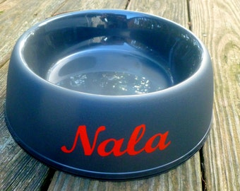 Vinyl name decal, pet bowl label, pet supplies, pet accessories, pet bowl name, personalized dog name sticker, customized cat name sticker