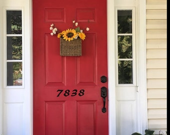 House number decal, front door decal, vinyl decal, street number,  address number, welcome decal, mailbox sign, home decor, house warming